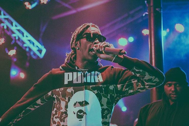 Young Thug performing live on stage