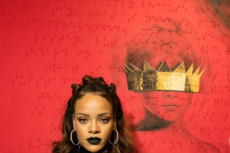 : Singer Rihanna at Rihanna's 8th album artwork reveal for 'ANTI' at MAMA Gallery on October 7, 2015 in Los Angeles, California.