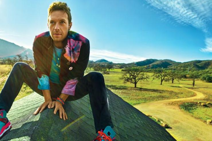 Chris Martin poses for Rolling Stone.