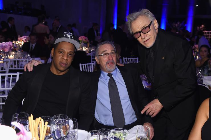 Jay Z, Robert DeNiro and Harvey Keitel at the amfAR Gala.