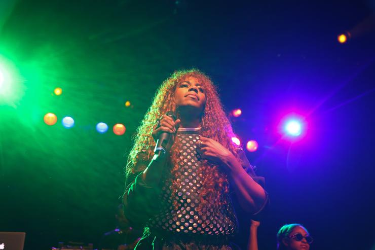 Santigold performing live
