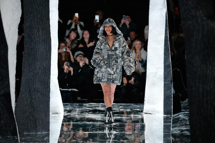 Rihanna walks the catwalk at her Fenty by Rihanna show for Puma.
