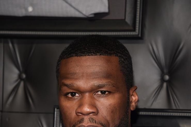 50 Cent at JCPenney and Michael Strahan Launch