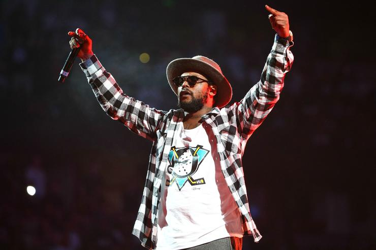 Schoolboy Q performs at Power 106 concert