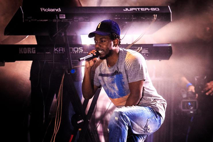 Kendrick Lamar performs during the Bacardi Triangle event on November 1, 2014 in Fajardo, Puerto Rico. The event saw 1,862 music fans take on one of the most mysterious forces of nature in a three day epic music adventure