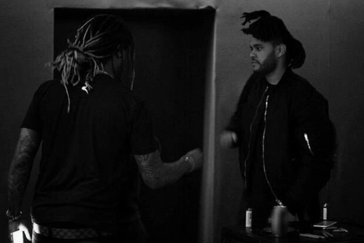 Future & The Weeknd in the studio