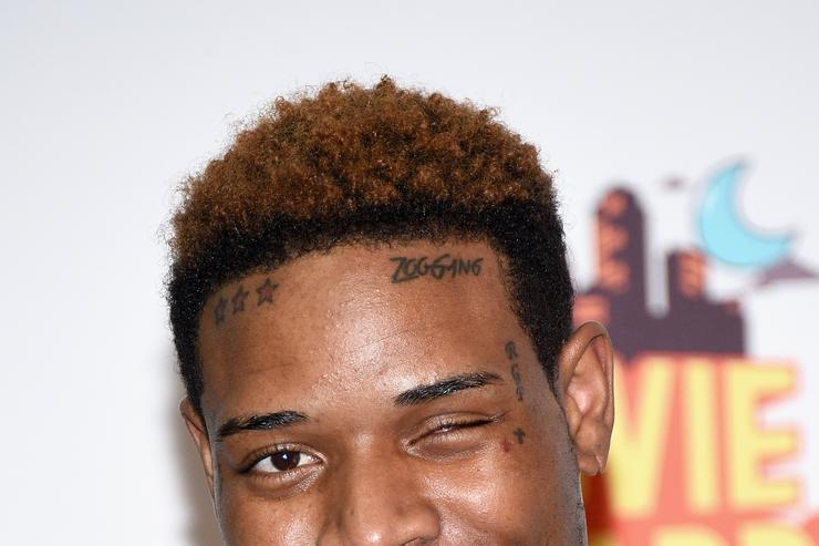Recording artist Fetty Wap poses in the press room during The 2015 MTV Movie Awards at Nokia Theatre L.A. Live on April 12, 2015 in Los Angeles, California