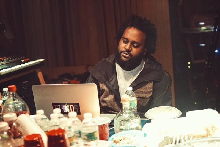 Bas in the studio
