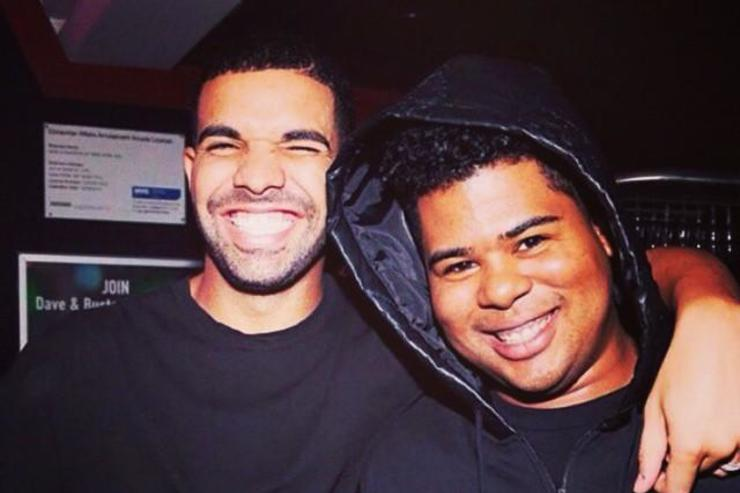 Drake & ILoveMakonnen hugging it out