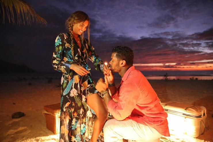 Russell Wilson proposes.