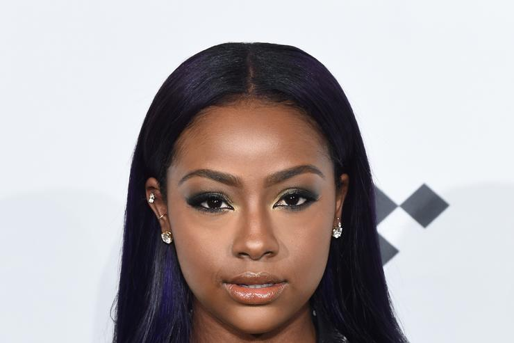 Justine Skye attends TIDAL X: 1020 at Barclays Center on October 20, 2015 in the Brooklyn borough of New York City.