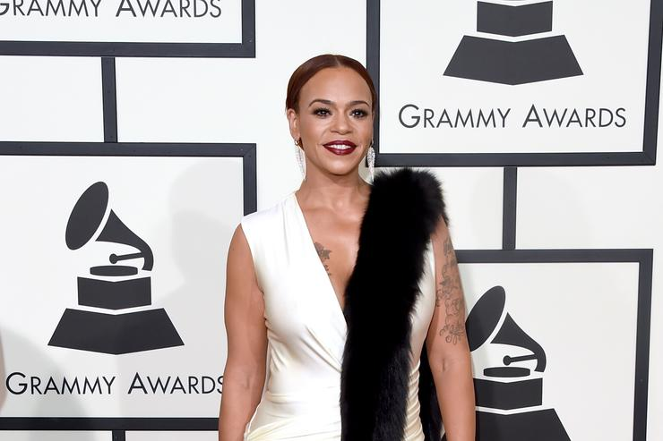 Singer Faith Evans attends The 58th GRAMMY Awards at Staples Center on February 15, 2016 in Los Angeles, California.
