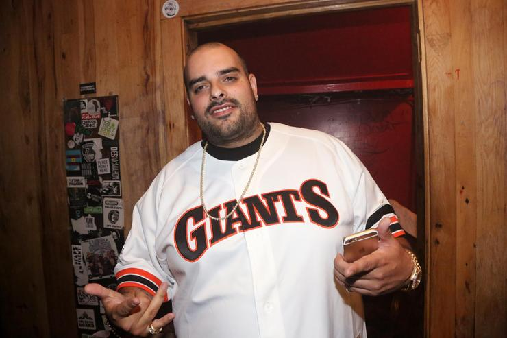 Taylor Gang artist Berner backstage at Webster Hall on July 30, 2015 in New York City