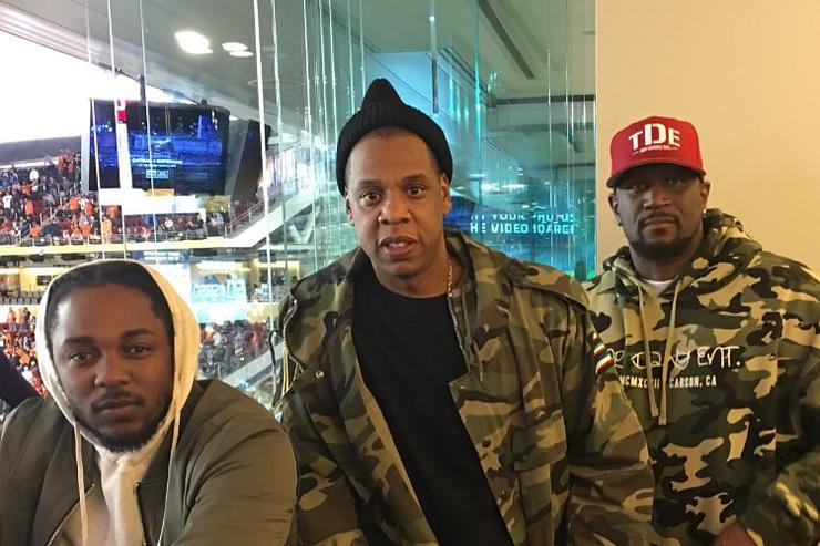 Jay Z, Kendrick Lamar and Anthony Tiffith