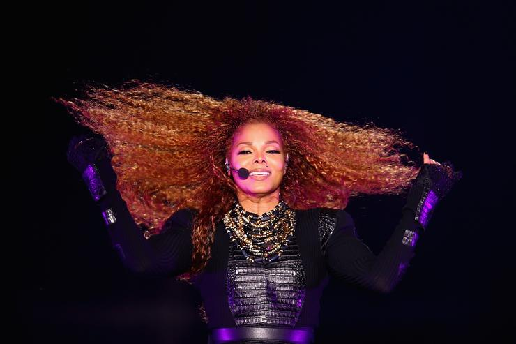 Janet Jackson performs after the Dubai World Cup at the Meydan Racecourse on March 26, 2016 in Dubai, United Arab Emirates. (Photo by Francois Nel/Getty Images)