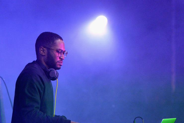 DJ Kaytranada performs onstage during day 3 of the 2015 Coachella Valley Music & Arts Festival (Weekend 1) at the Empire Polo Club on April 12, 2015 in Indio, California.