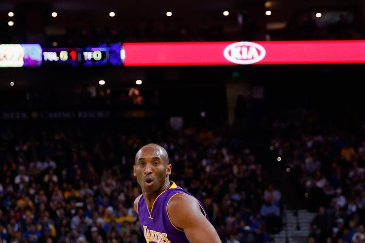 Kobe Bryant at Los Angeles Lakers v Golden State Warriors 2016