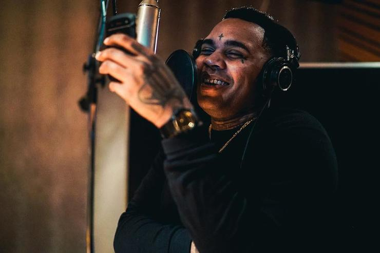 Kevin Gates in the studio