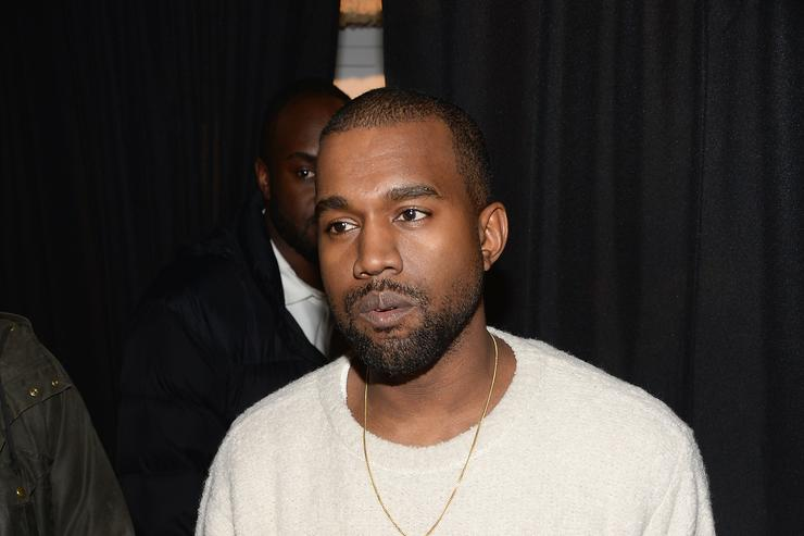 Kanye West attends the 'River Of Fundament' world premiere at BAM Harvey Theater on February 12, 2014 in New York City.