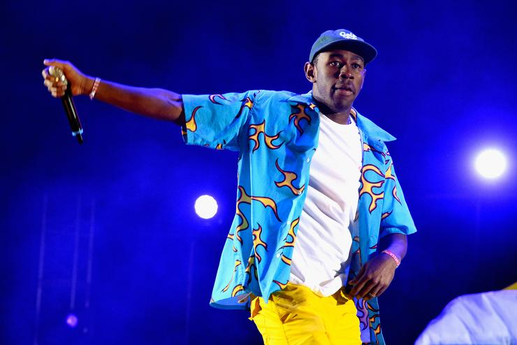 Rapper Tyler, The Creator performs onstage during day 2 of the 2015 Coachella Valley Music & Arts Festival (Weekend 1) at the Empire Polo Club on April 11, 2015 in Indio, California.