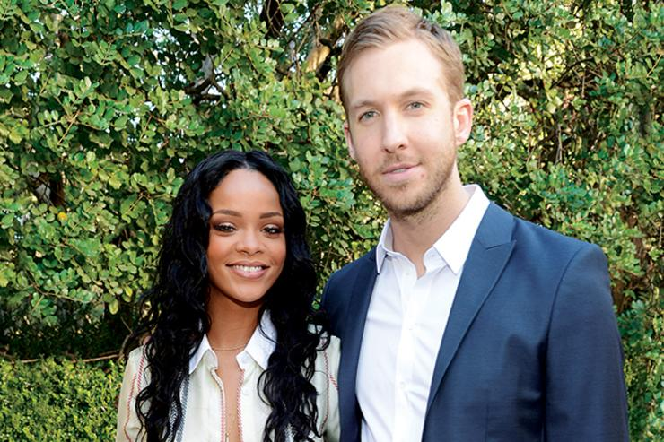 Rihanna & Calvin Harris at Roc Nation Pre-Grammy Brunch