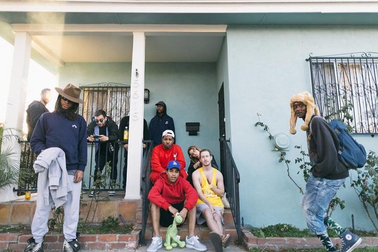 "Chuck Inglish, Asher Roth & Blended Babies on video set of ""Sweatshorts"""