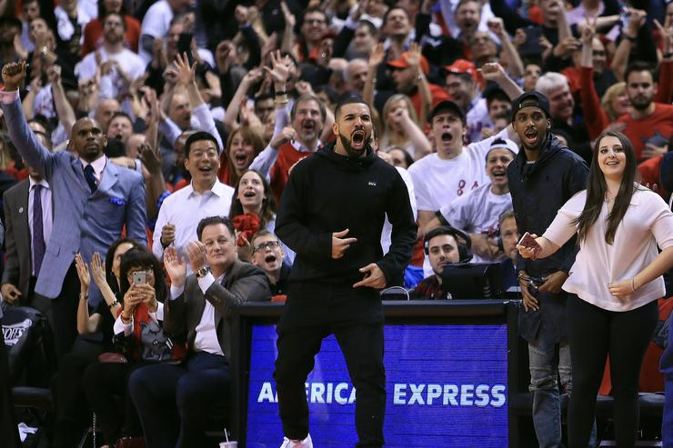 Drake at the  Indiana Pacers v Toronto Raptors - Game Five