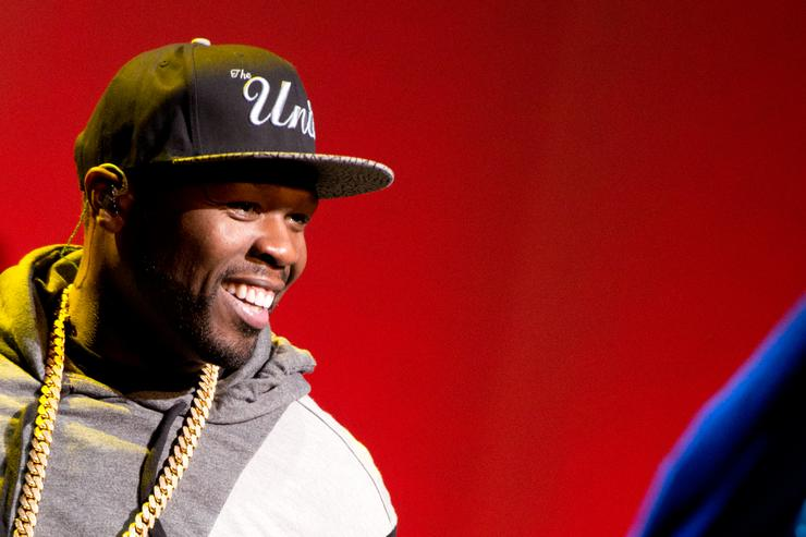 50 Cent at the 4th Annual 'Home For The Holidays' Benefit Concert
