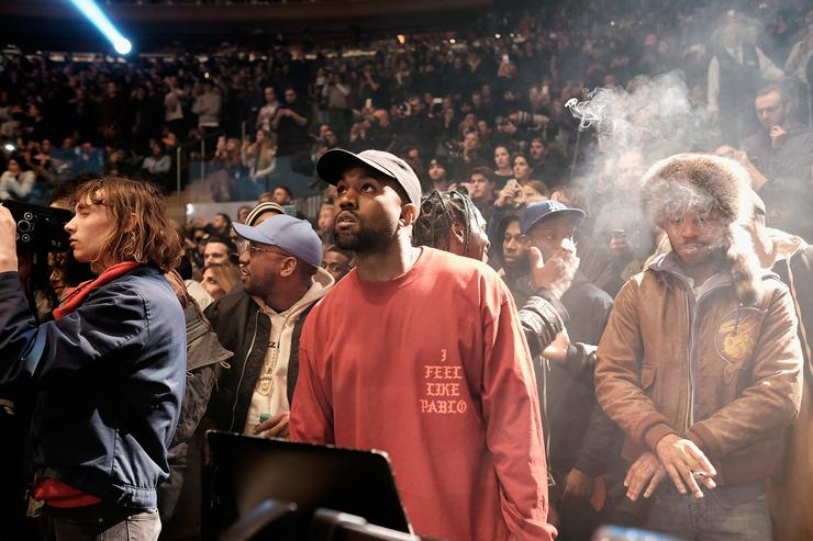 Kanye West at MSG for Yeezy season 3