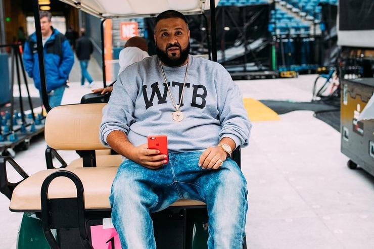 DJ Khaled backstage on Formation Tour