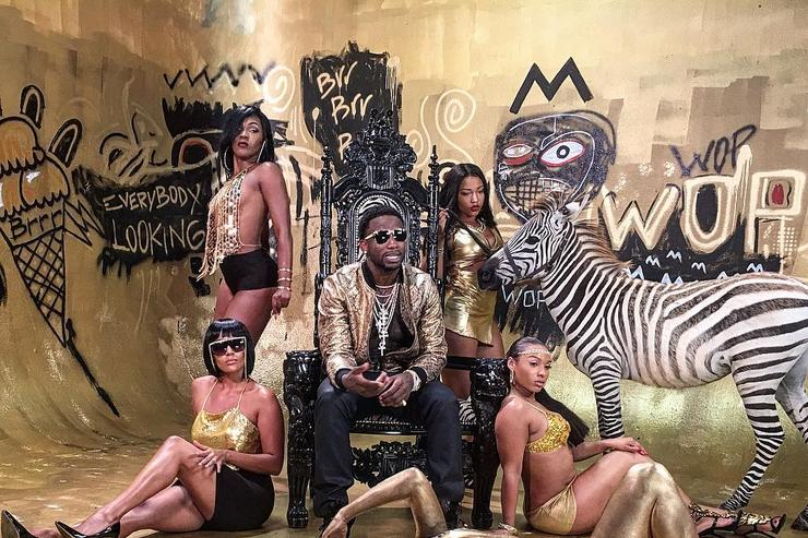 "Gucci Mane on set of ""No Limit"""