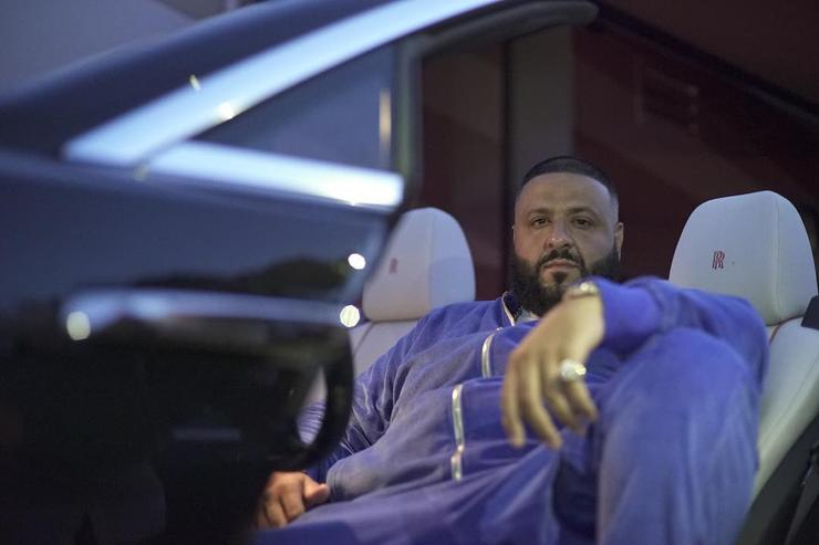 DJ Khaled lounging