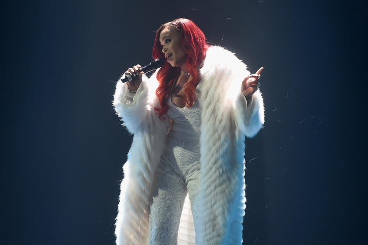 Faith Evans at Bad Boy Reunion Tour in NYC