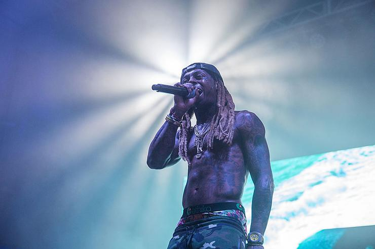 il Wayne takes the stage at the Bud Light Party Convention in Houston, August 13, 2016. Bud Light - America's most popular and inclusive beer brand - is taking the Bud Light Party on the road with 13-city Convention Tour from 8/5-8/27 at Silver Street Studios on August 13, 2016 in Houston, Texas.