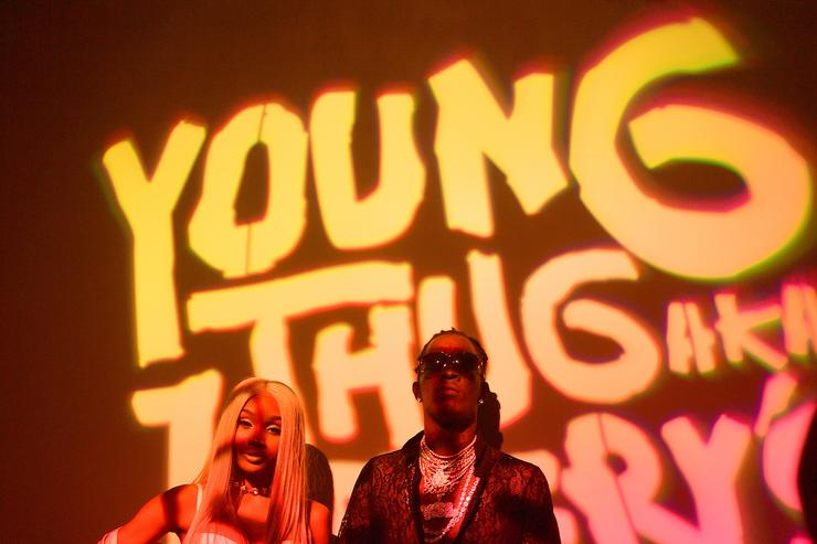 Jerrika Karlae and Young Thug at an event in Atlanta