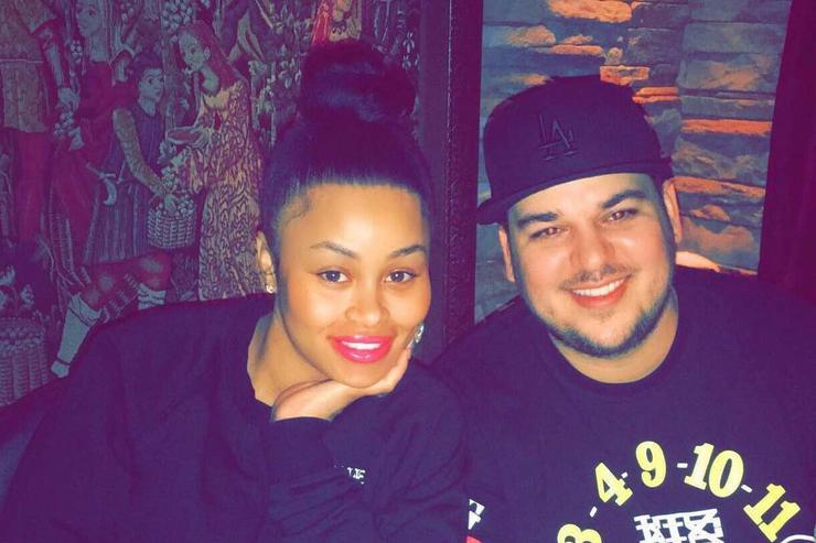 Blac Chyna and Rob Kardashian out for dinner