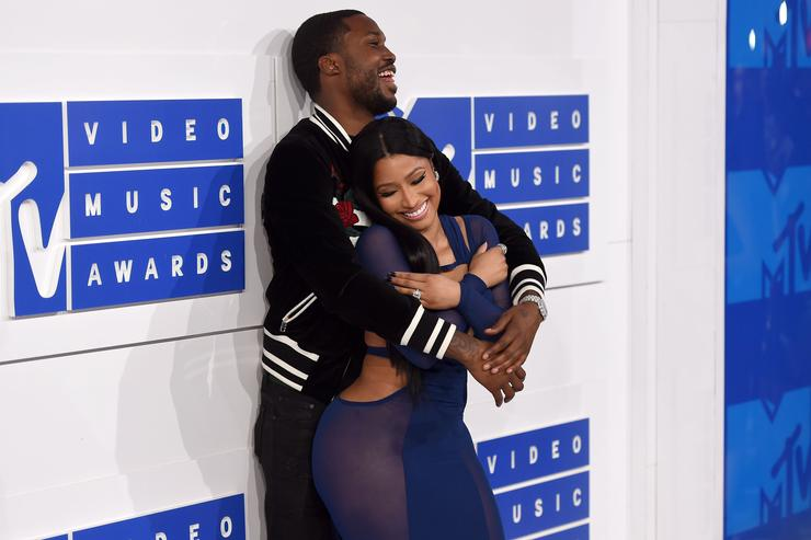 Nicki Minaj and Meek Mill at MTV VMAs 2016