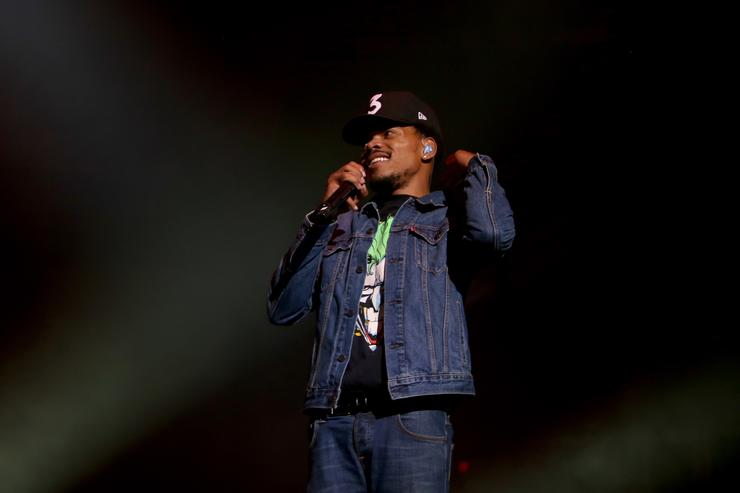 Chance The Rapper performing at Bad Boy reunion show