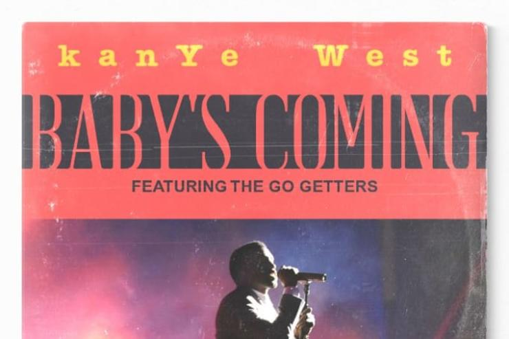 "Kanye West ""Baby's Coming"" artwork"
