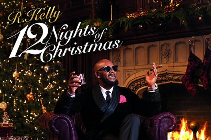 "R. Kelly album cover for ""12 Nights Of Christmas"""
