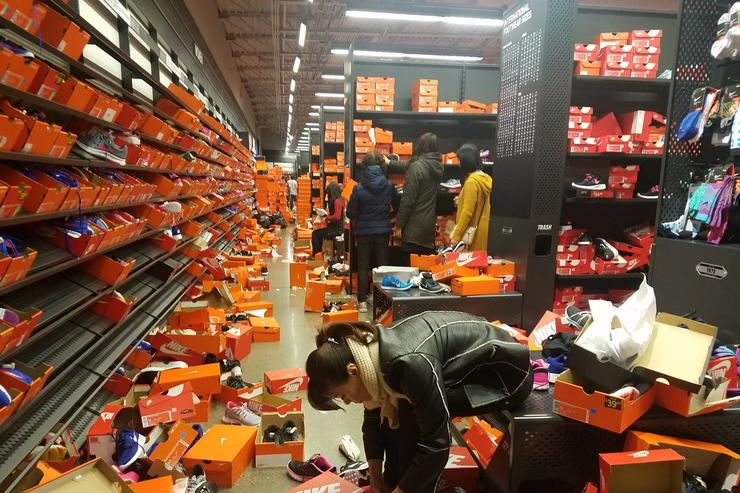 Nike Outlet destroyed