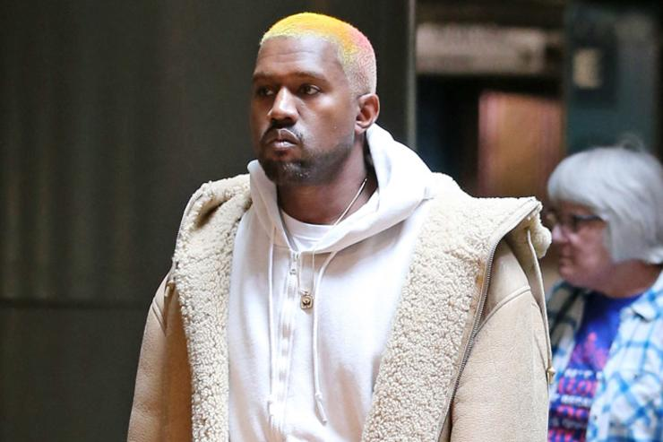 Kanye West new hair style
