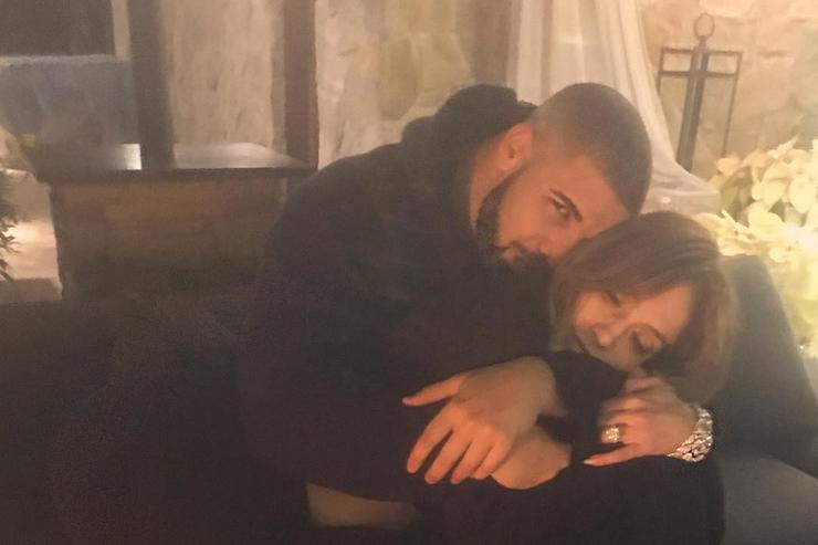 Drake and J. Lo cuddled up