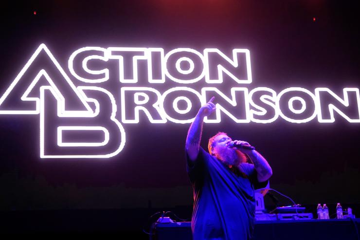 Action Bronson performing at Tyler The Creators 5th annual Camp Flog Gnaw.