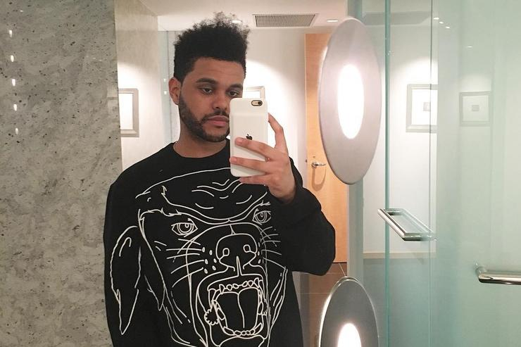 The Weeknd takes a selfie