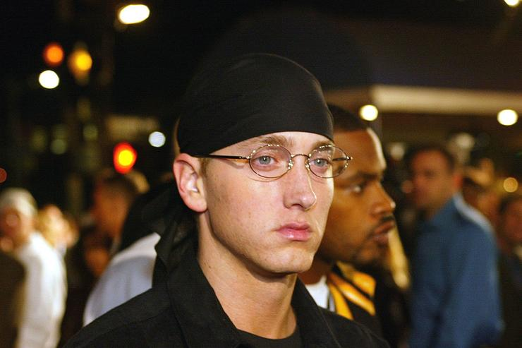 Eminem at the premiere of '8 Mile' at the Village Theatre in Westwood, Ca. Wednesday, Nov. 6, 2002.