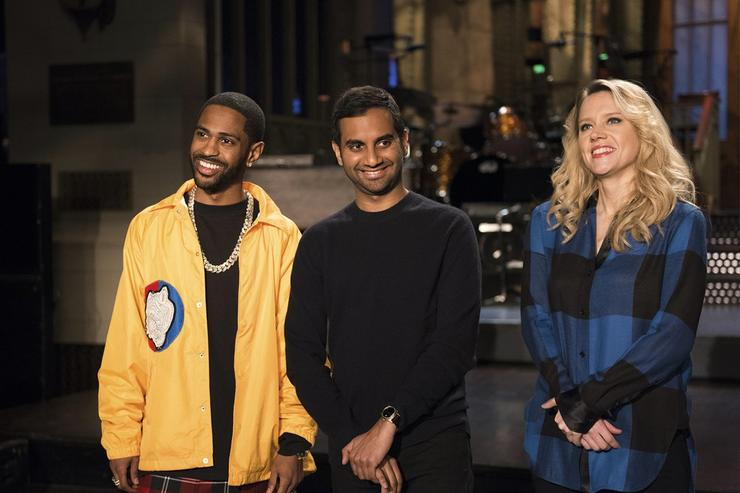 Big Sean, Aziz Ansari & Kate McKinnon