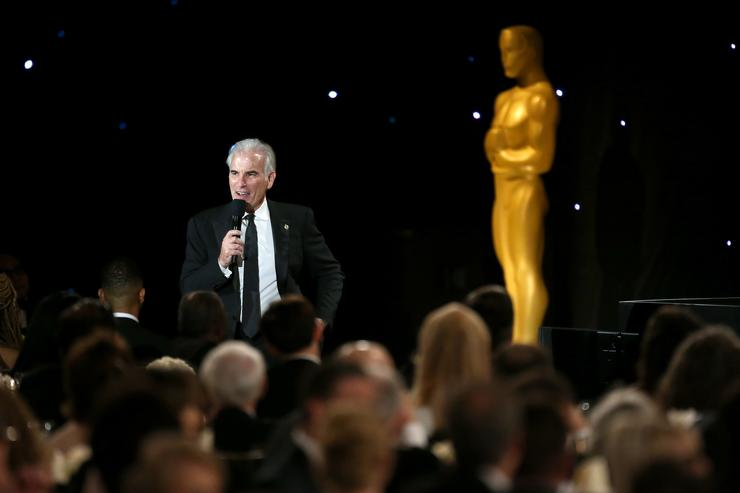 Film editor Michael Tronick speaks during the Academy of Motion Picture Arts and Sciences' 8th annual Governors Awards at The Ray Dolby Ballroom at Hollywood & Highland Center on November 12, 2016 in Hollywood, California.