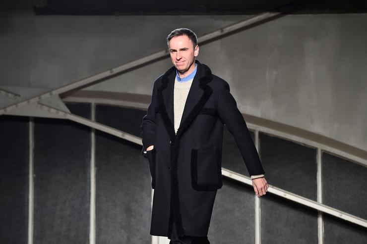 Designer Raf Simons walks the runway during the Raf Simons Menswear Fall/Winter 2016-2017 show as part of Paris Fashion Week on January 20, 2016 in Paris, France.