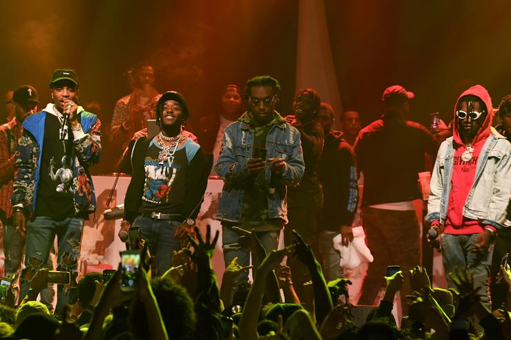 Migos performing in ATL with Lil Uzi Vert